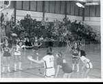Girls Varsity Basketball.  Number 41 - Kris Henkemeyer  Number 35 - Sara Bergeson  Number25 - Sue Thelen (Class of 81)